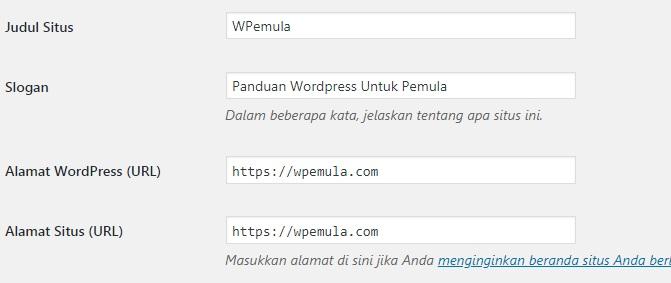 Pengaturan WWW